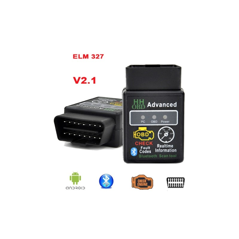 obdii obd2 bluetooth car diagnostic v2 1 elm327 elm 327 led buy. Black Bedroom Furniture Sets. Home Design Ideas