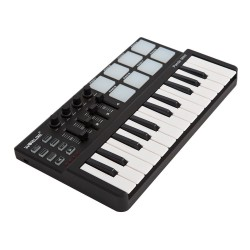 Mini teclado USB portátil de 25 teclas y controlador MIDI Drum Pad