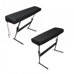 Funda protectora para piano electrónico con cordones - 61/88 teclas