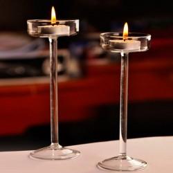 elegant romantic goblet glass candle holder - candlestick - valentine's day - wedding dinner - home decoration