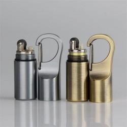 Mini briquet à huile compact avec boucle - porte-clés