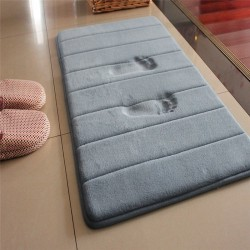 Bathroom mat - memory foam floor carpet - water absorbent