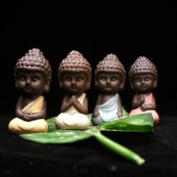 Petit Bouddha - statue en céramique - figurine moine