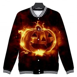 Giacca corta a manica lunga con zucca di Halloween - giacca a vento
