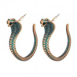 Vintage kolczyki z kobrą