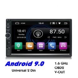 Autoradio 2 Din Bluetooth Android 9 - WiFi - USB - Navigation GPS - Mirrorlink - MP3 MP5