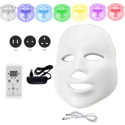 7 colors LED electric face and neck mask - acne treatment - light therapy