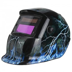 Schweißhelm - automatische Verdunkelung - einstellbar - solarblauer Blitz / Schädel