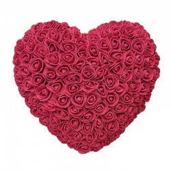 Rose heart - made of infinity roses 30 * 30 cm