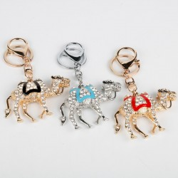 Porte-clés camel cristal et or