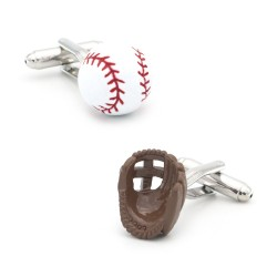 Baseball ball / gloves - cufflinks