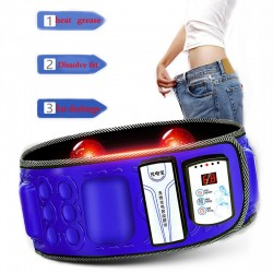 Electric Infrared Slimming Belt Lose Weight Fitness Massager X5Times Vibration Abdominal Belly Fat B