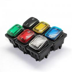 4 styki DPST - T85 - przełącznik samochodu & łodzi - przełącznik kołyskowy z diodą LED - wodoodporny