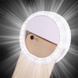 LED Ring Flash Universal Selfie Light Portable Mobile Phone 36 LEDS Selfie Lamp Luminous Ring Clip F