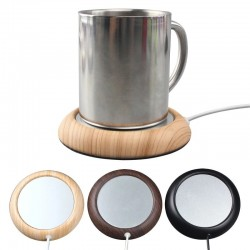 Original Wood Grain USB Warmer Cup Warmer USB Heater Beverage Mug Mat Keep Drink Warm Heater Mugs Co