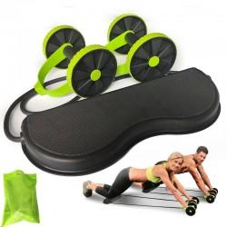 AB wheels roller - rozciągliwa elastyczna lina oporowa - trener mięśni brzucha