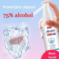 60ml Disinfection Rine-free Hand Sanitizer 75 Alcohol Spray Portable Disposable Prevention Hand San