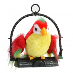 Talking Parrot Imitates And Repeats What You Say Kids Gift Funny Toy