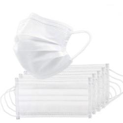 Medyczna maska do jamy ustnej / twarzy - jednorazowa - antybakteryjna - biała