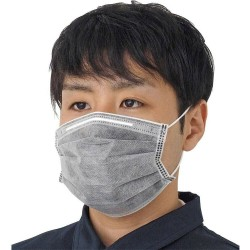 Filtro nano a carbone attivo - maschera bocca / viso a 4 strati - antibatterico - grigio
