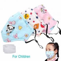 PM25 maska z węglem aktywnym na twarz / usta z zaworem - dla dzieci - z filtrami
