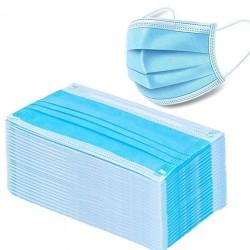 Maschere viso / bocca monouso - 3 strati - antipolvere - anti batteriche