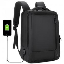 Sac à dos de voyage étanche anti-vol - Sacoche pour ordinateur portable de 15,6 po avec chargement USB