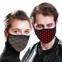 PM2,5 - 5-warstwowa maseczka przeciwpyłowa na twarz / usta z 3D wzorem
