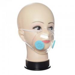 Przezroczysta maska na twarz / usta dla osób niesłyszących z filtrami PM2,5 - przeciwpyłowa / antybakteryjna - czytanie z ust