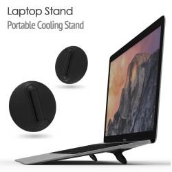 Macbook / Laptop-Ständerhalterungen - verstellbar - schwarz - universeller Kühlständer