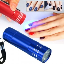 9 Led - UV light torch - quick nail dryer