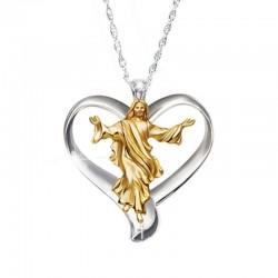 Jesus Heart Necklace