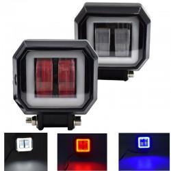 20W - 12V - 6000K - DRL - LED Lichtleiste mit HELO - Reflektor - für Motorrad - SUV - LKW - ATV - Traktor