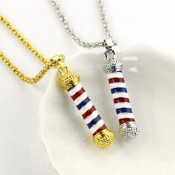 National Flag Microphone Pendant - Gold/Silver - Stainless Steel