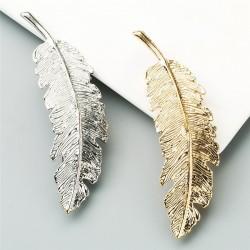 Vintage liść - złota & srebrna spinka do włosów