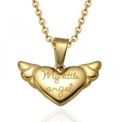 My Little Angel Pendant Necklace - Gold