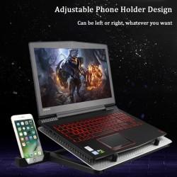 12-17 calowy wentylator chłodzący do Macbooka i laptopa - podstawka - regulowany uchwyt