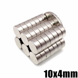 N35 neodymium magnet - super strong round disc - 10mm * 4mm