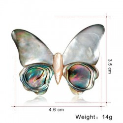 Butterfly Shell Brooch