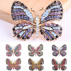 Crystal Rhinestone Butterfly Brooches