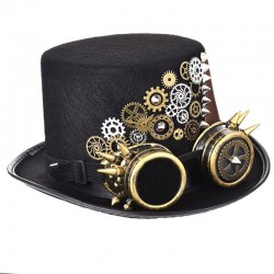 Vintage Steampunk Hat - Black
