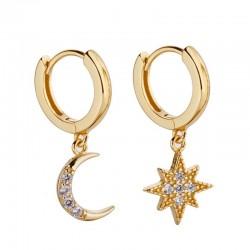 Star Moon Earrings - Women