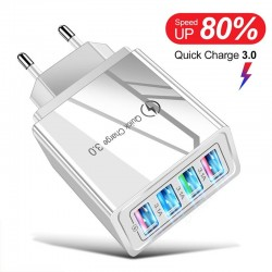 USB Charger - 4 Ports - EU/US