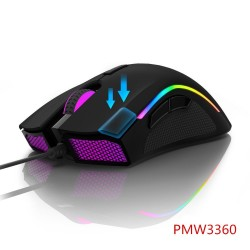 M625 - 12000 DPI - PMW3360 - USB wired gaming mouse - 7 buttons - RGB backlight - with Fire Key