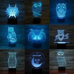 Owl Night Light - 3D