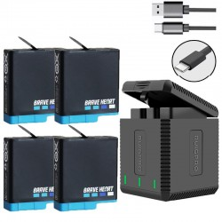 Go Pro Hero 8 Battery + 3 Port TYPE-C