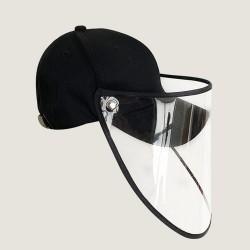 Anti flu protective cap - baseball cap - black