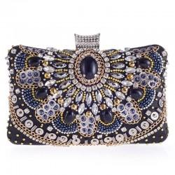 Diamond crystal purse - with chain - ladies