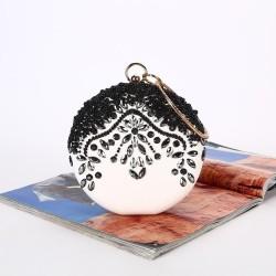 Luxury bag - vintage - diamond - gold chain