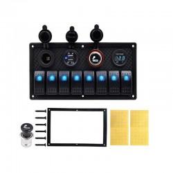 8 PCS Rocker Switch Panel - Cigarette Lighter Socket